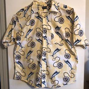 Men's Puritan buttoned down shirt.
